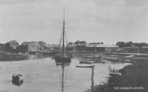 Old view (circa 1900) of Annan Harbour available online here
