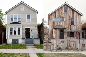 Theaster Gate's Dorchester Projects. Image: House past and present (2013) Image: Sarah Pooley