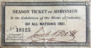Exhibition Ticket 1851