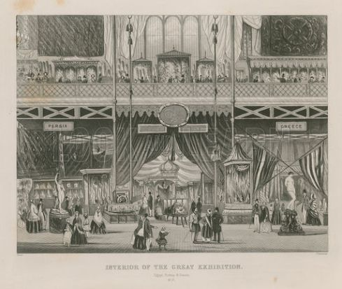 Interior of the Great Exhibition, 1851, Egypt, Turkey & Greece